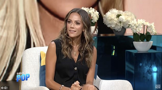 New love? Jana Kramer, 37, confirms she's dating again and giddily says she's 'entertaining things' on E!'s Daily Pop, just one month after divorcing Mike Caussin for'inappropriate marital conduct, irreconcilable differences and adultery'