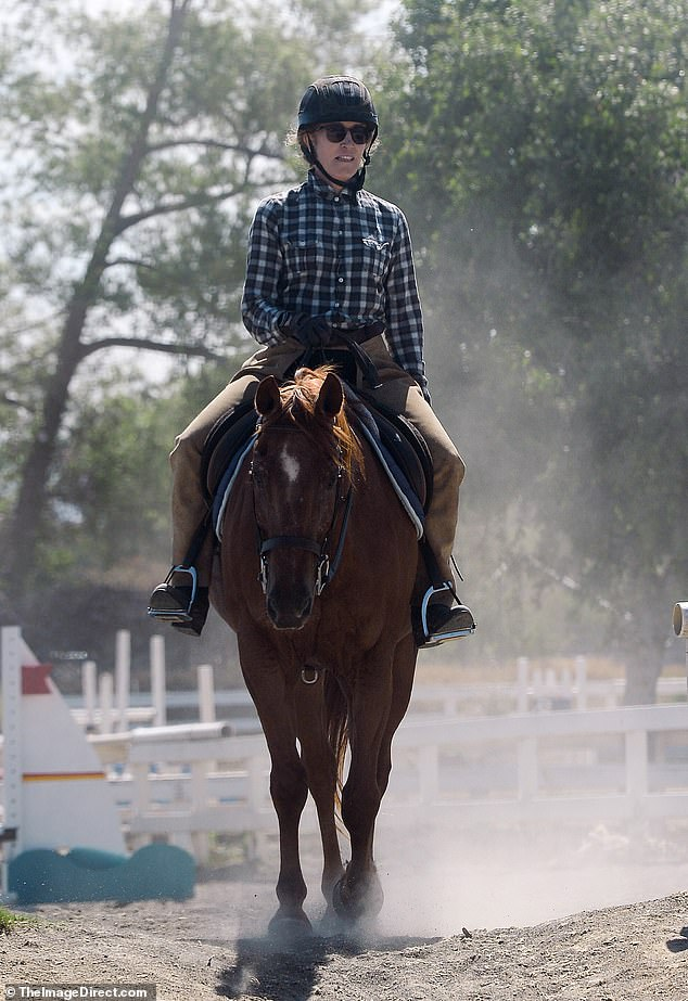 Low-profile day: She's been keeping a low profile since spending 11 days in federal prison in 2019. And on Wednesday, Felicity Huffman was spotted enjoying a day of horseback riding in Los Angeles