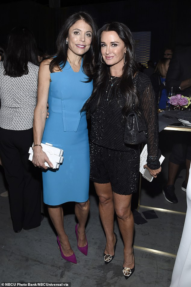 Unfollowed! Kyle Richards revealed she and her long-time friend Bethenny Frankel had unfollowed each other on Instagram (pictured 2015)