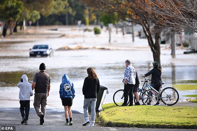 Victorians living near the Traralgon Creek area were told by authorities to evacuate at about 10.30am on Thursday as the wild weather worsened