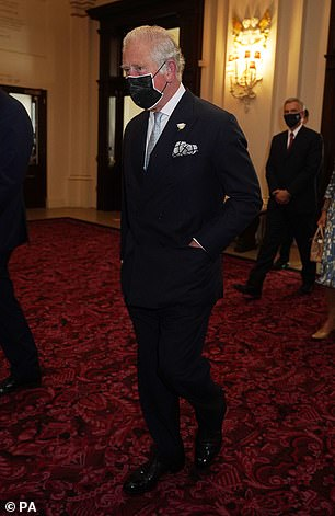 The Prince of Wales (pictured) and the Duchess of Cornwall have enjoyed an evening at the Royal Opera House