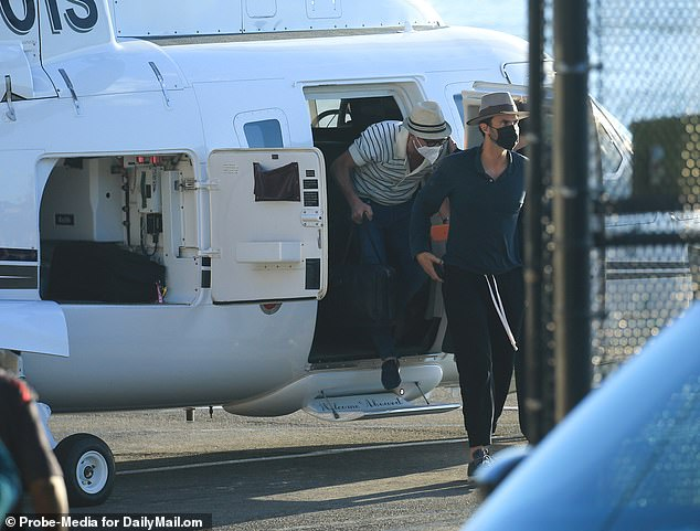 Skip the traffic: Celebrities are known to arrive at the Hamptons by helicopter