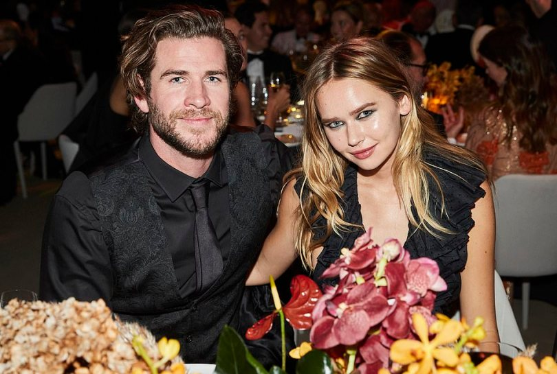 Date night: Liam, known for his role in The Hunger Games trilogy, was joined by his girlfriend, model Gabrielle Brooks