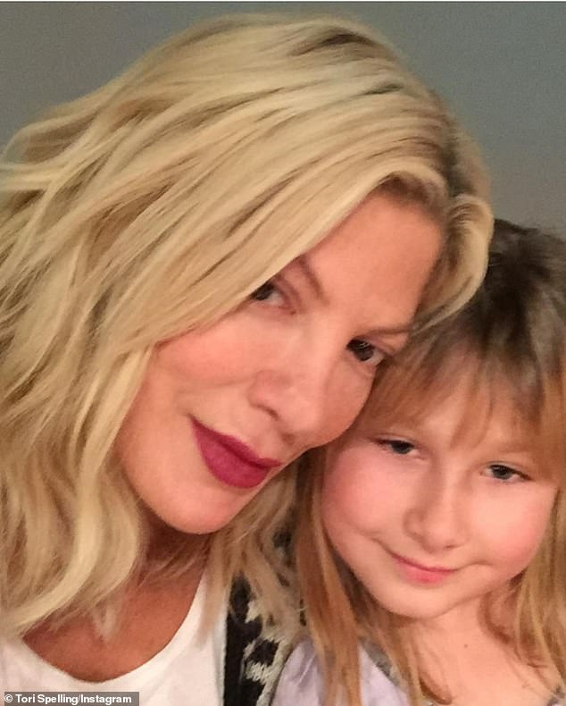 Love: The actress, 48, celebrated her 'fierce' eldest child with a slew of throwback snaps and the sun-soaked beach image, shared with her 1.5million followers