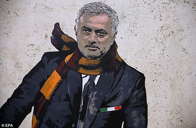Roma fans painted a mural for Mourinho after he was appointed as their manager on May 4