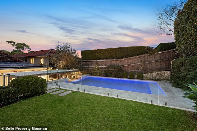 Lush: Their pad features a cottage-style exterior, four bedrooms, two bathrooms and a small infinity swimming pool