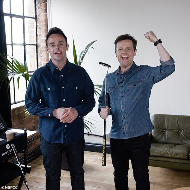 Good cause: Ant McPartlin and Declan Donnelly took a drip down memory lane as they played childhood games in support of the NSPCC's Childhood Day