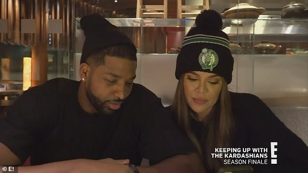 Reunited: Filmed before her alleged fraud scandals this year, Khloe and Tristan reunite in Boston during the episode
