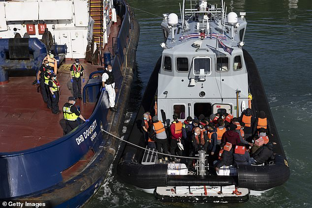 It comes after a Border Force union official warned cross-channel migrants are bringing high levels of Covid with them when they arrive in the UK