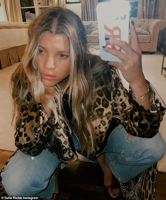Having a ball:Sofia, who last year got out of a relationship with Kourtney Kardashian's ex Scott Disick, also showed off her current outfit on Instagram