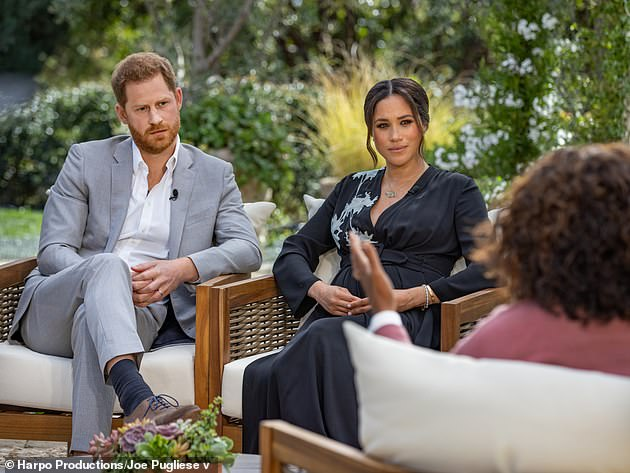 Oprah:During their bombshell interview in March, Meghan revealed a member of the royal family had raised 'concerns' about how dark her and Harry's son Archie's skin might be