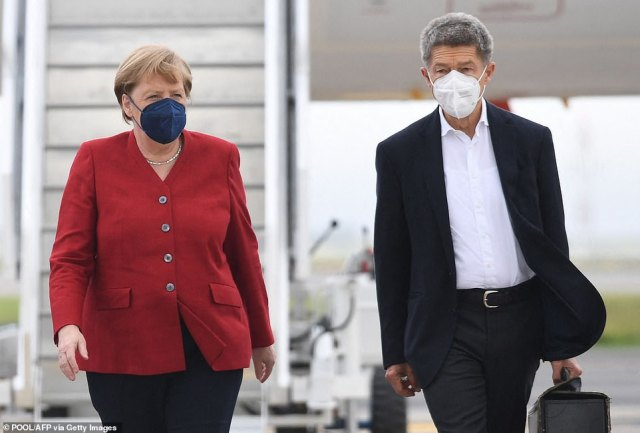 G7 leaders including Angela Merkel arrived for the summit in Carbis Bay, Cornwall today