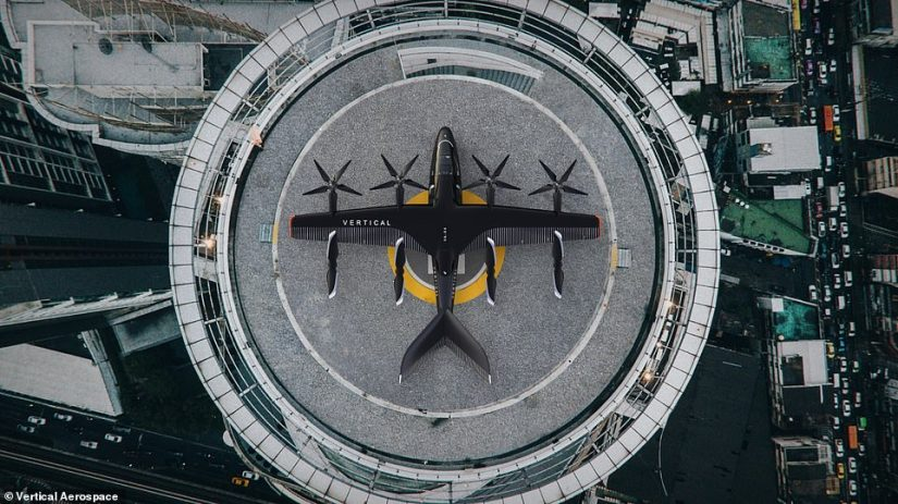 The aircraft would potentially take off and land at airfields in the outskirts of a city, or even on landing pads at the top of tall buildings