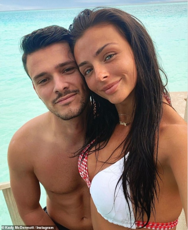 Divided: Kady's journey comes after she effectively announced that she had secretly split from TOWIE track Myles, 27, following their turbulent relationship, which began in 2018