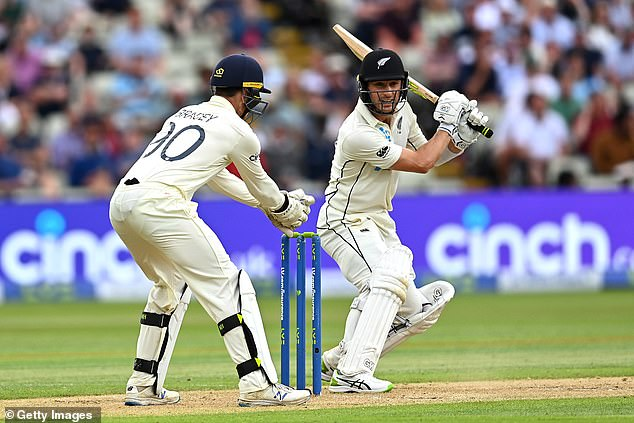 Will Young (above) ensured New Zealand moved into a favourable position against England
