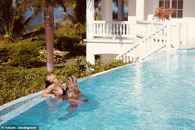 Tropical getaway: Future and Lori confirmed dating rumors when the pair went on a romantic vacation in Jamaica to celebrate Harvey's 23rd birthday