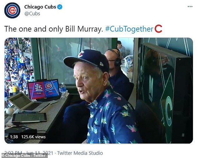 'Opening Day 2.0.': The team shared video of Murray singing on its official Twitter account