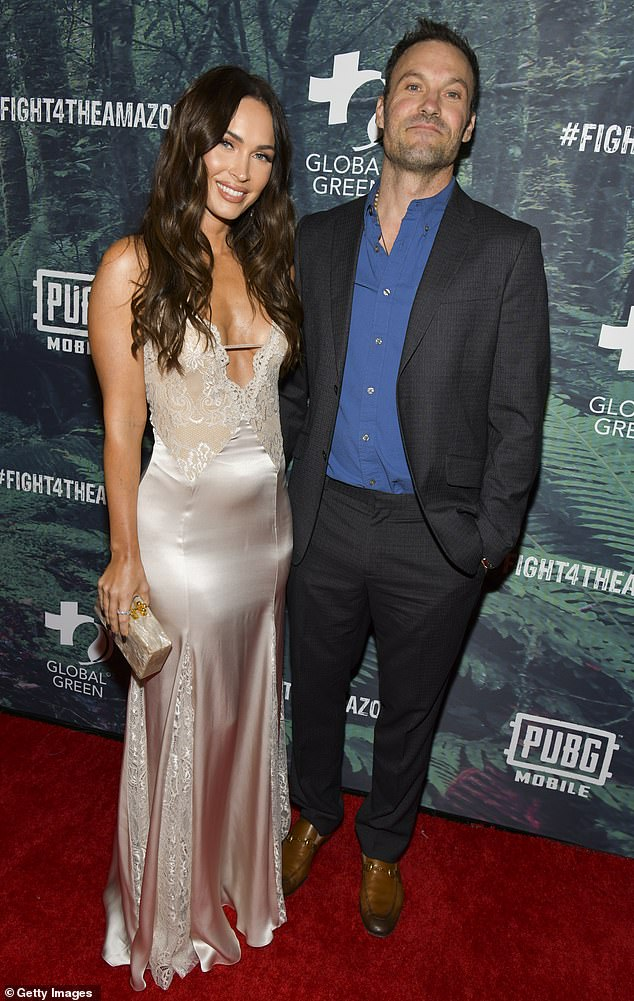 Split:The actress' romance with Machine Gun Kelly came after Fox split from her husband of 10-years, Brian Austin Green in May 2020. The former pair, who wed in 2010, share three sons; Megan and Brian pictured in 2019