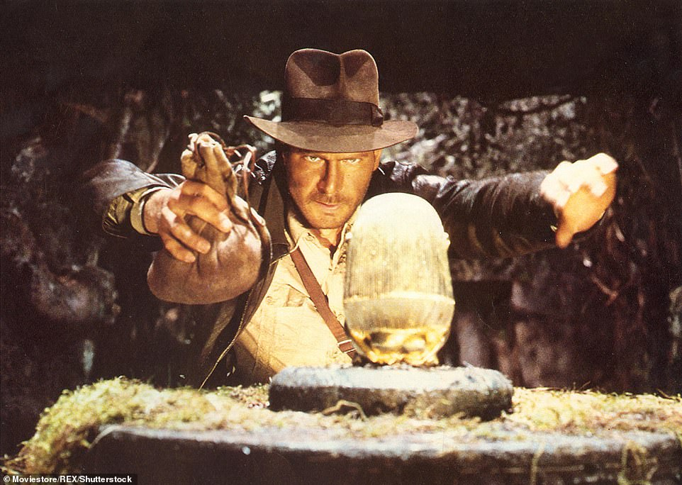 40 years later: Harrison has played the iconic role of Indiana Jones for 40 years, having first starred in Raiders of the Lost Ark in 1981