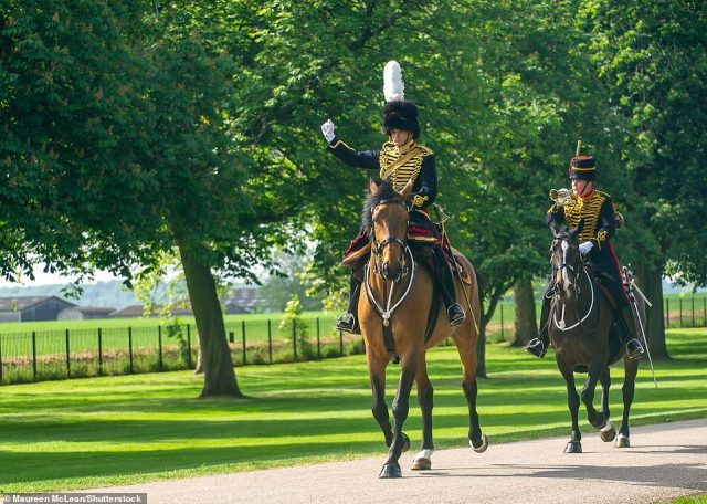 The pandemic has meant for the second year in succession the military commemoration of the Queen's official birthday is being staged in the quadrangle of her Berkshire home