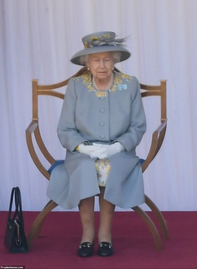 The Queen tapped her foot along to the parade on Saturday at Windsor Castle for the traditional Trooping of the Colour ceremony to mark her official birthday