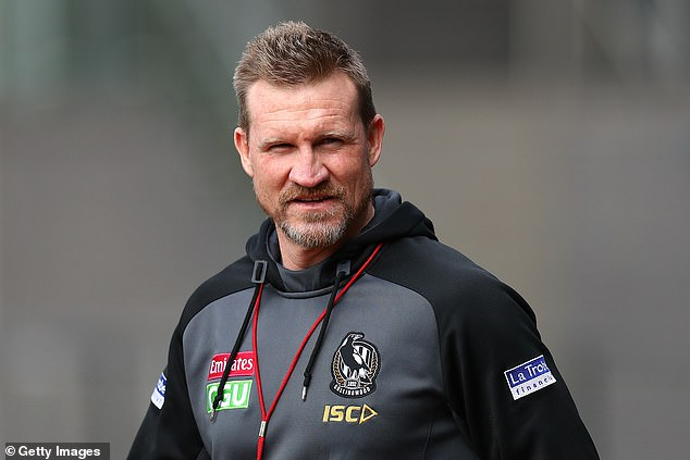 Moves: It comes after Alex broke her silence after Nathan, 48, (pictured) stepped down as coach for Collingwood halfway through his 10th AFL season