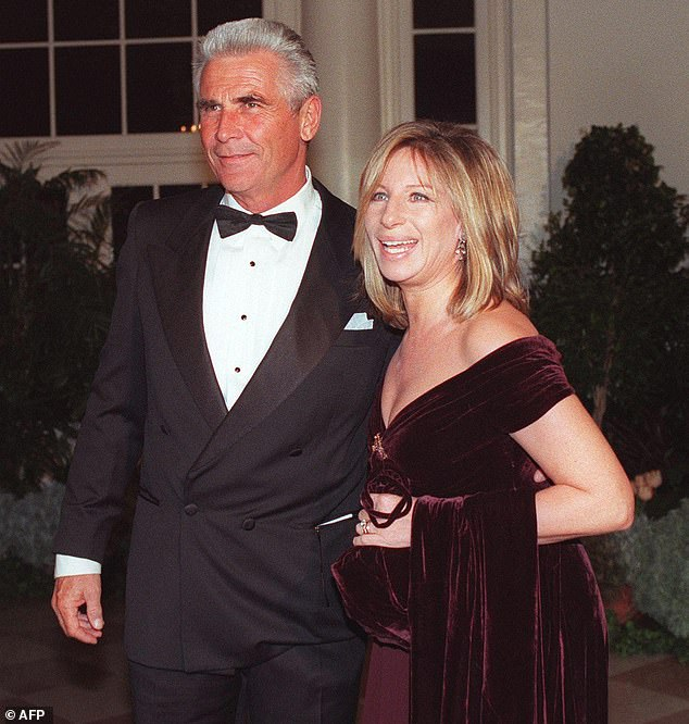 Moving fast: Brolin and Streisand met in the mid-1990s and went on to tie the knot in 1998; they are pictured in the year of their marriage