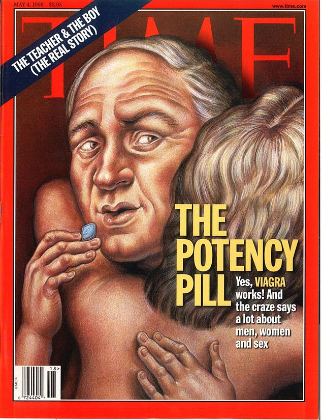 FEELING BLUE: A Time magazine cover in the early days of Viagra in 1998