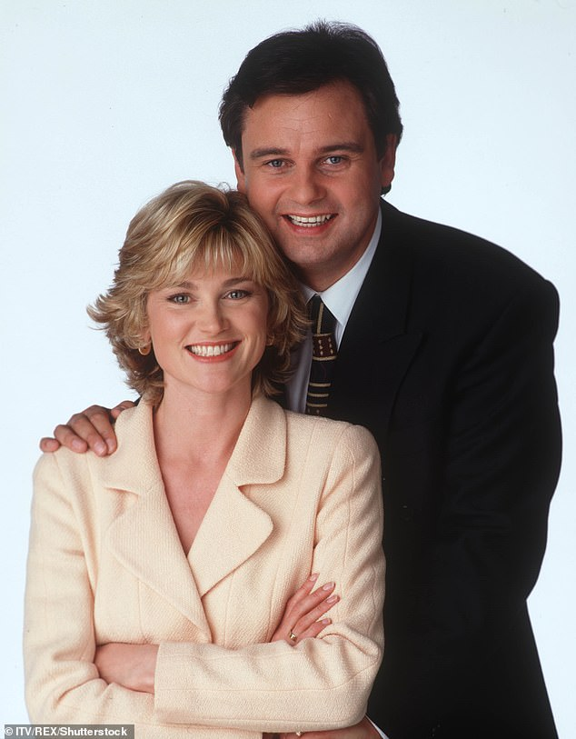 Tense:The housekeeping expert and Eamonn, 61, co-hosted ITV1 breakfast show GMTV from 1994 to 1996 but their relationship was famously frosty (pictured in 1995)