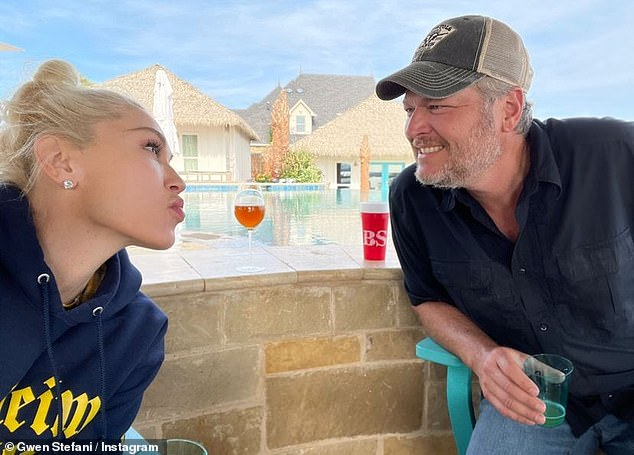 Long-term love affair: The two met in 2014 when Stefani became a judge on The Voice.  Blake has been a judge on the NBC show since its inception in 2011;  recently seen on Instagram