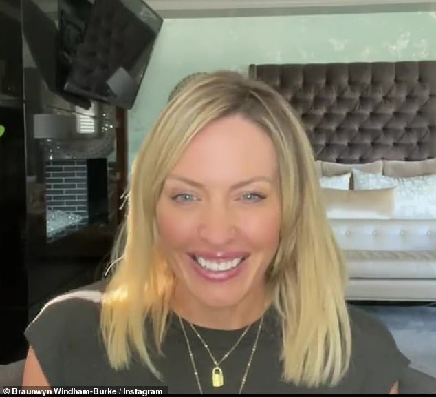 Personal milestone: Braunwyn Windham-Burke, 43, revealed she just celebrated 500 sober days in an Instagram post on Saturday, June 12