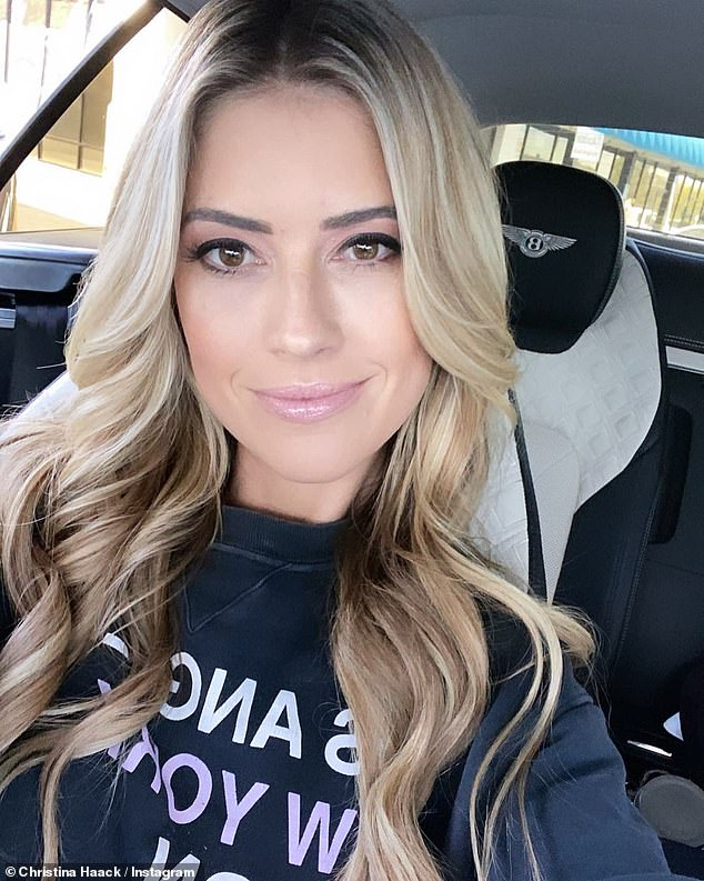 Baby mama: El Moussa shares his two children with ex-wife Christina Haack; the former couple still star together on the HGTV reality series Flip Or Flop
