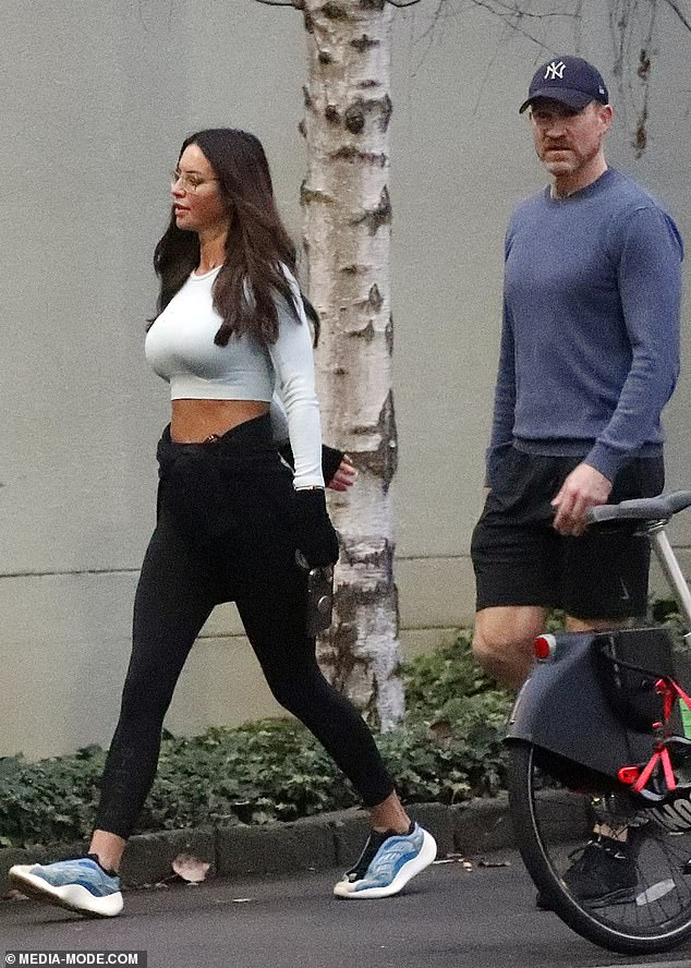 Something on your mind?The sporting star, 48, appeared rather pensive as he walked off his nerves in Melbourne ahead of his emotional send-off