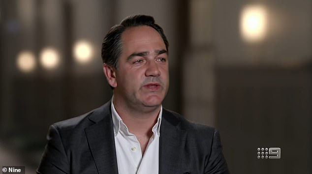 Moved:Upon leaving, Wippa became emotional, fighting off tears as he explained how grateful he was to have raised money for his cancer charity, the Cooper-Rice Brading Foundation.'It meant everything, it means the world,' he said