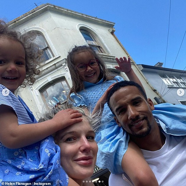 Sad: Helen is a mom to Matilda, five, Delilah, two, and their son Charlie, three months, with her fiance Scott Sinclair (pictured in Falmouth, Cornwall, in May)