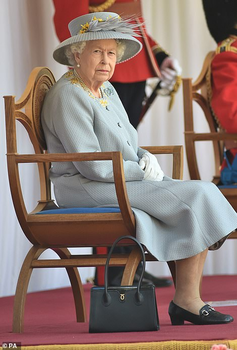 Their latest meeting comes the day after the Queen received her official birthday gift from the nation's armed forces - a ceremony of pomp and pageantry in her honour - which was held at the castle