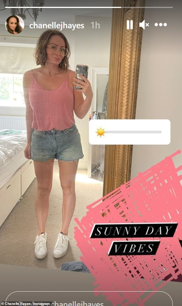 Stunning: Chanelle Hayes has showed off her impressive fitness transformation in a new snap she shared on Instagram on Sunday