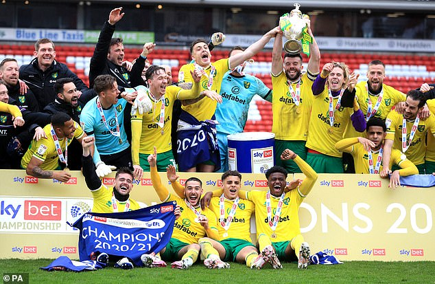 Norwich City (pictured) and Watford both won promotion to the Premier League this season fater being relegated last term. Fair Game is looking for a solution to parachute payments
