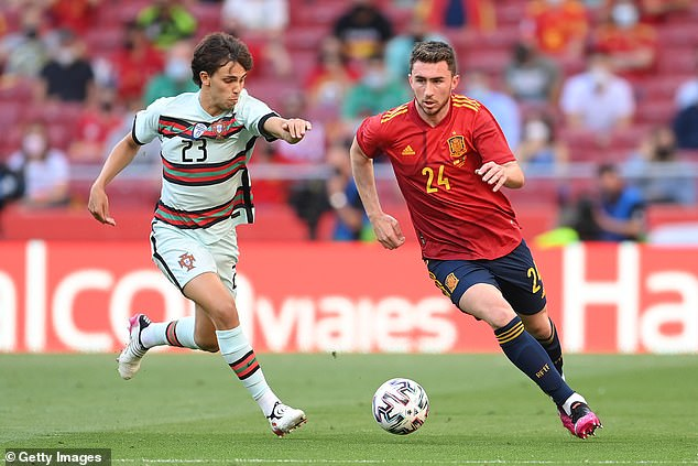 Aymeric Laporte (right) was nationalised as a Spaniard ahead of the tournament