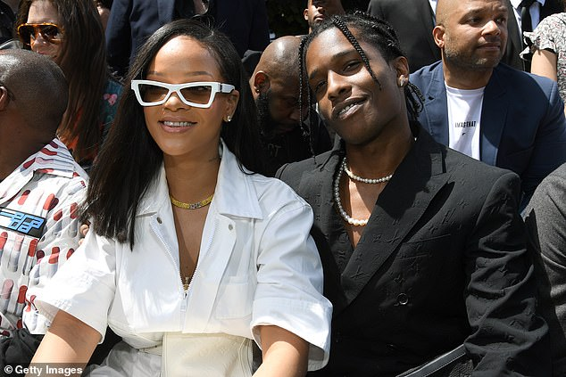 'It's amazing and I'm honestly truly blessed, for real': A$AP continued as he is pictured with Rihanna in Paris back in June 2018