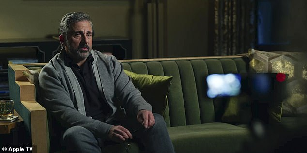 Controversial: Meanwhile, Steve Carell, whose character Mitch Kessler was fired amid sexual misconduct allegations, grapples with being hated over his actions