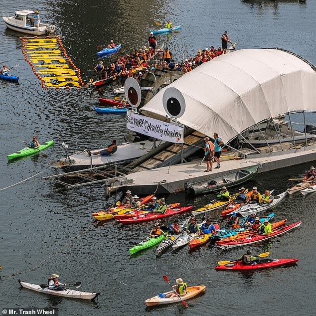 Depending on its size, a Trash Wheel costs between $400,000 and $800,000, including assembly, installation and personalization