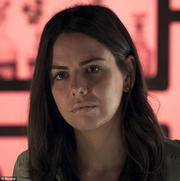 Hard times: Among the residents suspected to be the deceased is Mackenzie Booth (Emily Weir), the owner of Salt restaurant.In recent weeks, Mackenzie has hit rock bottom and alienated her friends, following a devastating break-up and suffering an ectopic pregnancy