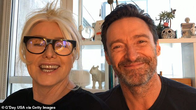 Home:Hugh has been living in New York with his wife, Australian actress Deborra-Lee Furness (pictured together), since 2008, but revealed he had been 'homesick' due to the lengthy pandemic lockdown
