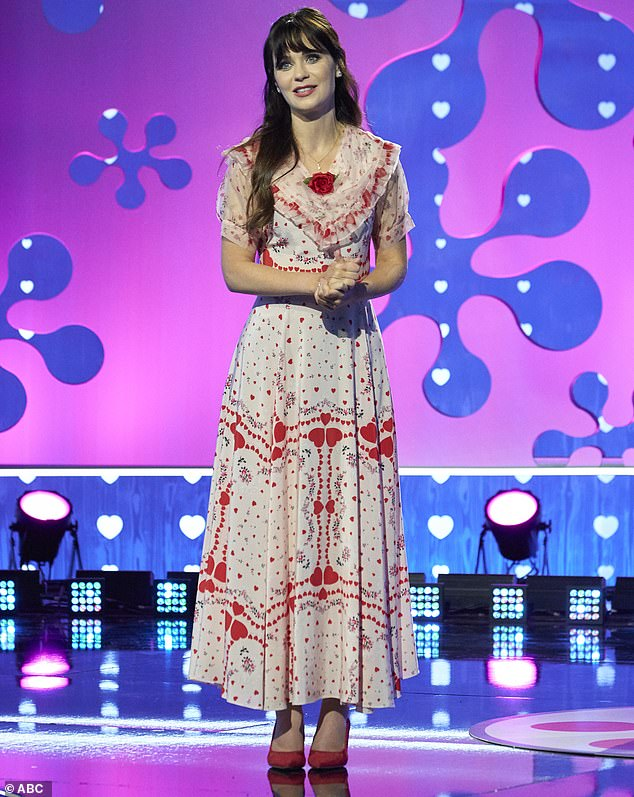 Host: Zooey Deschanel hosted the show with Michael Bolton