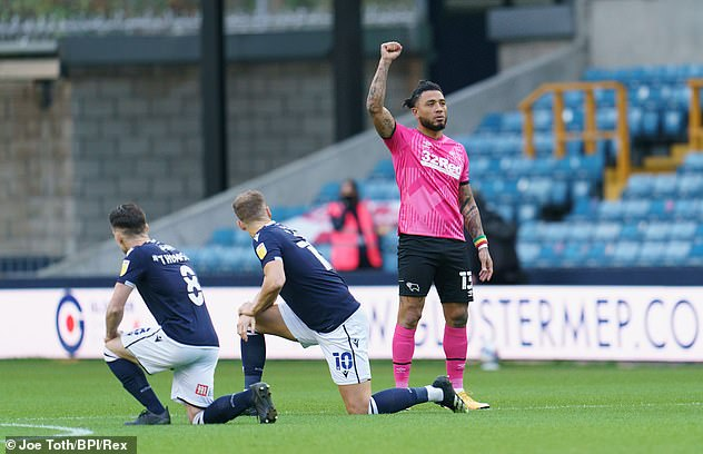 Millwall fans booed players who took the knee at last season's Championship clash with Derby