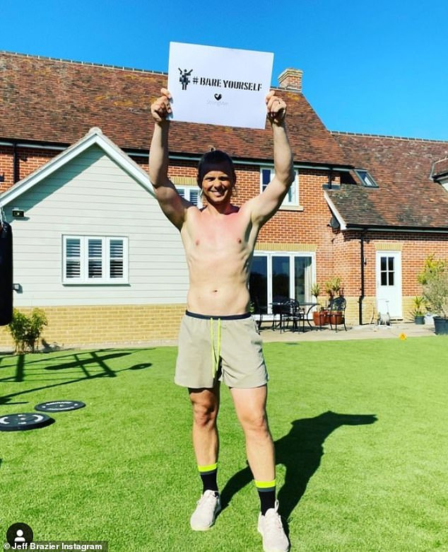 Topless: Jeff Brazier (pictured), Bobby Zamora, Corrie's Antony Cotton and other brave stars got naked as part of the social media challenge