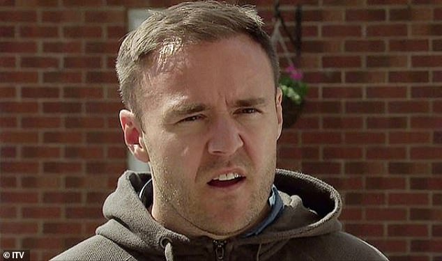 Surprise:Tyrone Dobbs (Alan Halsall) will receive shocking news during Coronation Street next week, as he's told his abusive ex-girlfriend Kirsty Soames has died