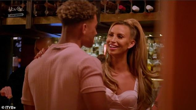 Former flame: Jordan is believed to have been single for some time, but he was linked to Vanessa Bauer in 2020 and was an item with Ferne McCann in 2019 (pictured with Ferne)