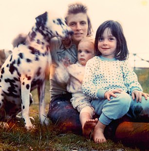 Linda, Stella and Mary with Lucky the Dalmatian in the early 1970s